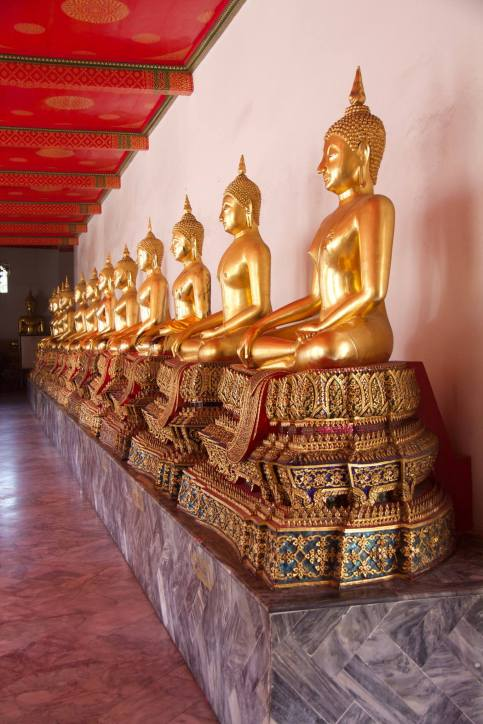 A few of the thousand buddhas