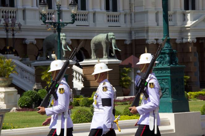 Changing of the guard at the palace.